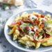 Pasta met spinazie en zongedroogde tomaatjes